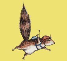 Skydiver Squirrel Kids Tee