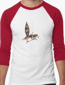 Skydiver Squirrel Men's Baseball ¾ T-Shirt