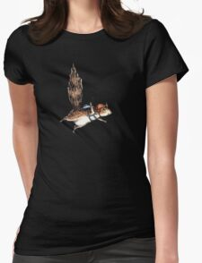 Skydiver Squirrel Womens Fitted T-Shirt