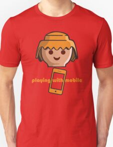 Playing With Mobile Unisex T-Shirt