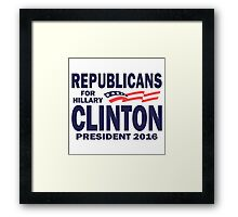 Republicans for Hillary Framed Print