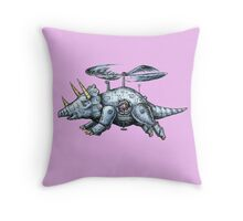 Tricerabot Throw Pillow