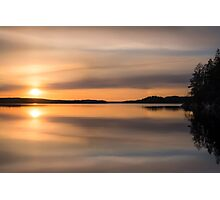 Mirror (nice and peaceful evening on the lake) Photographic Print