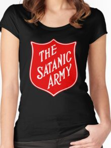 Satanic Army Salvo Shield Women's Fitted Scoop T-Shirt