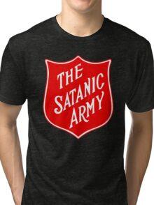 Satanic Army Salvo Shield Tri-blend T-Shirt