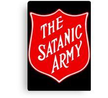 Satanic Army Salvo Shield Canvas Print
