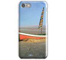 Boat in a salt lake iPhone Case/Skin