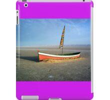 Boat in a salt lake iPad Case/Skin