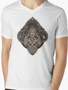 Cosmic Nirvana - White Mens V-Neck T-Shirt