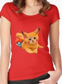 Pikachu the Kitty Women's Fitted Scoop T-Shirt