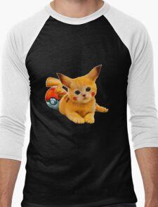 Pikachu the Kitty Men's Baseball ¾ T-Shirt