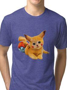 Pikachu the Kitty Tri-blend T-Shirt