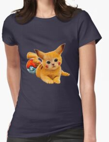 Pikachu the Kitty Womens Fitted T-Shirt