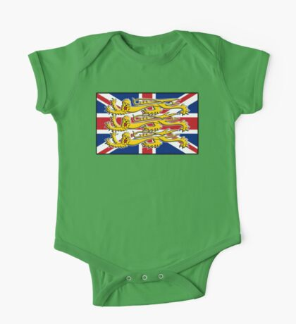 Union Jack, Three Lions, 3 Lions, GB, BRITISH, BRIT, PATRIOT, Royal Banner of England, England, English, British, Britain, UK One Piece - Short Sleeve