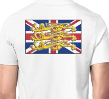 Union Jack, Three Lions, 3 Lions, GB, BRITISH, BRIT, PATRIOT, Royal Banner of England, England, English, British, Britain, UK Unisex T-Shirt