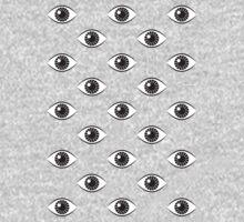 Eyes Wide Open - on Black One Piece - Long Sleeve