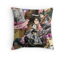 Levi Ackerman Collage Throw Pillow
