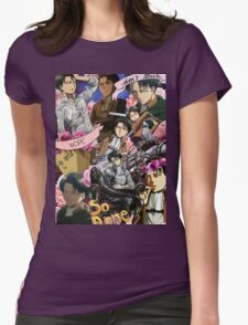 Levi Ackerman Collage Womens Fitted T-Shirt
