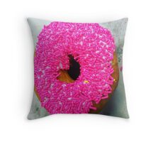 Sprinkles donut Throw Pillow