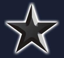 BLACK, STAR, 3D Chisel, Dark Star, Black Hole, Stellar, Achievement, Cool, Kids Tee