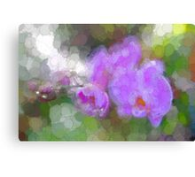 Purple Orchid Abstract Canvas Print