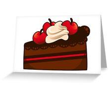 Cherry and chocolate cake Greeting Card