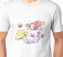 Space Sloth Turtle and Axolotl Unisex T-Shirt
