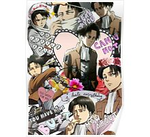 Levi Ackerman Collage Poster
