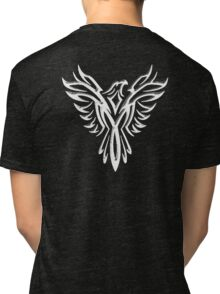 Phoenix, Phenix, Legend, Bird, Rising from the flames, Mythology, WHITE Tri-blend T-Shirt