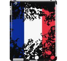 France Flag Ink Splatter iPad Case/Skin