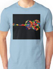 Vintage Coloured Classic Guitar Unisex T-Shirt