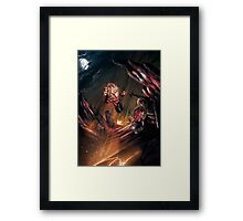 Attack of the Elemental Beast Framed Print