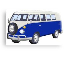 Volkswagen Van, VW Bus, Navy Blue, Camper, Split screen, 1966 Volkswagen, Kombi (North America) Canvas Print