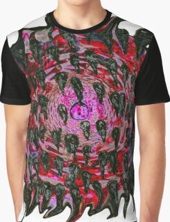Vortex to hell Black and red version. Graphic T-Shirt