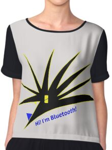 Bluetooth bug vector with text Chiffon Top