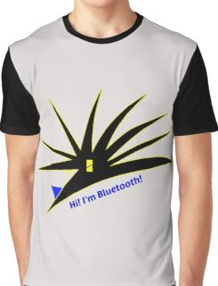 Bluetooth bug vector with text Graphic T-Shirt