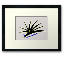 Bluetooth bug vector with text Framed Print