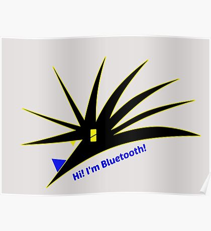 Bluetooth bug vector with text Poster
