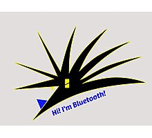 Bluetooth bug vector with text Photographic Print