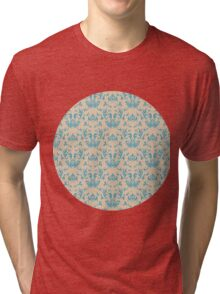 Vintage wallpaper pattern. Abstract floral ornament. Tri-blend T-Shirt