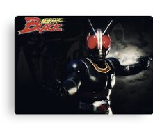 Kamen Rider Black Fight Canvas Print