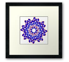 Rounded Geometric  Framed Print