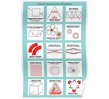 Classic Geometric Illusions Poster