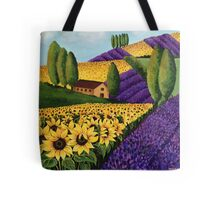 Sunflowers and Lavender Field Tote Bag