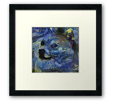 Starry Doge Framed Print