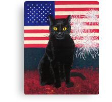 Red White Boo Canvas Print