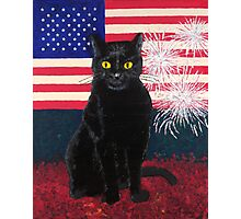 Red White Boo Photographic Print