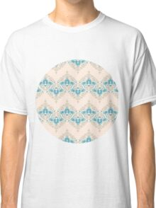 Vintage wallpaper pattern. Abstract floral ornament. Classic T-Shirt