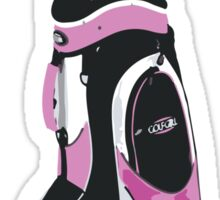 pink golf clubs Sticker