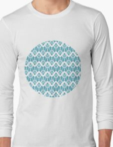 Vintage wallpaper pattern. Abstract floral ornament. Long Sleeve T-Shirt